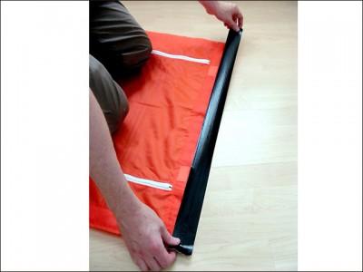 Dustguard stofdeur bevestiging aan de bovenzijde