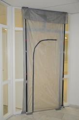Nylon Stofdeurset FIX 130 cm x 307 cm