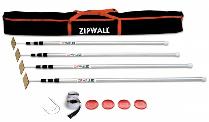 Stofscherm ZipScreen 4 set, variabele breedte tot 7,50 m