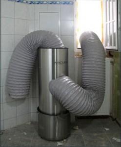 Airclean stofafzuiging in gebruik.