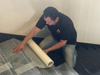 Kick & Stick beschermfolie harde vloeren 70 cm x 60 m