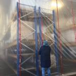 Aanbrengen van Foam Rails - Stofwand Sellco