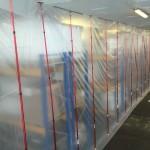 Stofscherm met foam rails - Sellco