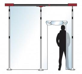 Stofscherm ZipScreen 3 set, variabele breedte tot 3,00 m