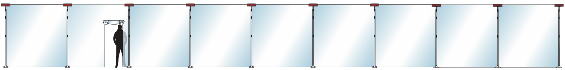 Stofscherm ZipScreen 10 set, variabele breedte tot 23 m