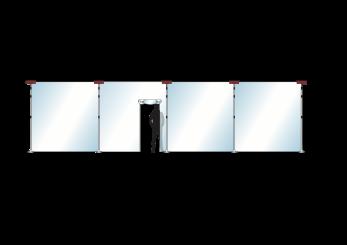 Stofscherm ZipScreen 5 set, variabele breedte tot 10,00 m
