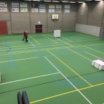 Montage Eventvloer-sportvloerbescherming