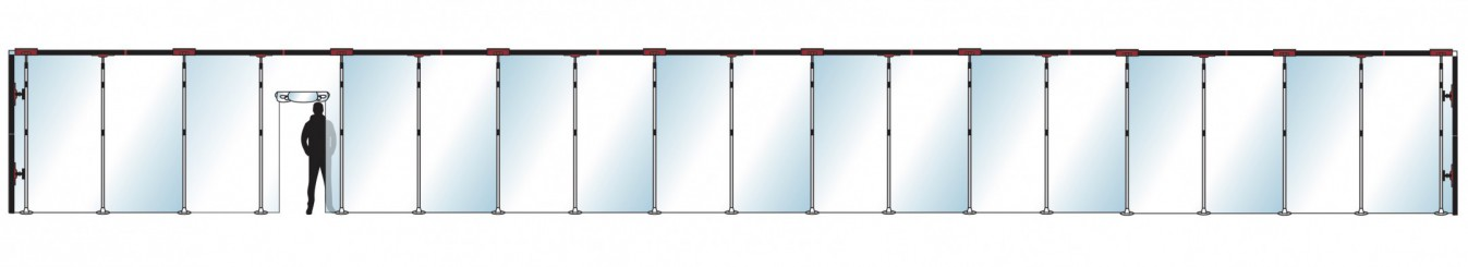 Stofscherm ZipScreen 19 PLUS, breedte tot 23 m