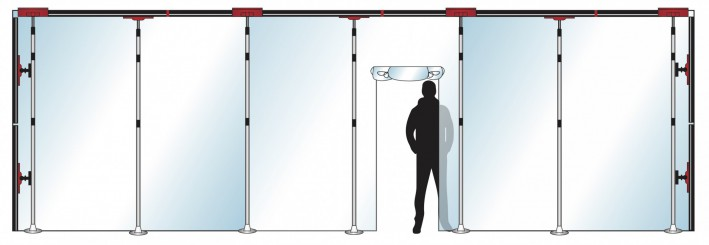 Stofscherm ZipScreen 7 PLUS variabele breedte tot 8 m