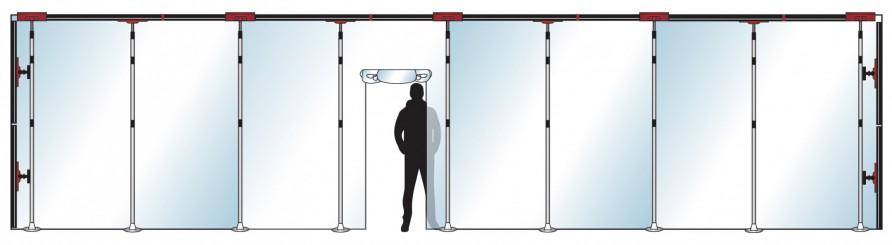 Stofscherm ZipScreen 9 PLUS variabele breedte tot 10 m